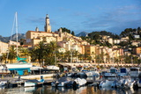 Old Town of Menton and Marina Photographic Print by Peter Groenendijk