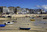 Boats in St. Ives Harbour at Low Tide, St. Ives, Cornwall, England, United Kingdom, Europe Photographic Print by Simon Montgomery