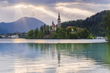 Lake Bled Sunrise Landscape Photographic Print by Matthew Williams-Ellis