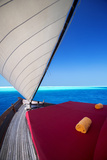 Sailing in Traditional Dhoni, Maldives, Indian Ocean, Asia Photographic Print by Sakis Papadopoulos