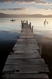 Lago Atitlan, Guatemala, Central America Fotografisk tryk af Colin Brynn