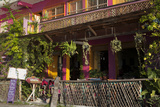 Hotel Entry, Flores, Lago Peten Itza, Guatemala, Central America Photographic Print by Colin Brynn