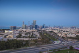 View of City Skyline, Abu Dhabi, United Arab Emirates, Middle East Photographic Print by Jane Sweeney