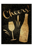 Gold Cheers Posters by Jace Grey