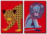 Mosaic Leopard and Petite Roi Posters