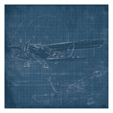 Plane Blueprint Posters by  OnRei