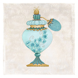 Perfume Bottle Blue Prints by Nicole Tamarin
