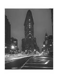 Flatiron Building, New York City, Front View at Night 1 Photographic Print by Henri Silberman
