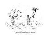 """I just wish I could loosen up like you."" - New Yorker Cartoon Premium Giclee Print by David Sipress"