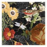 Vintage Floral 4 Prints by Carole Stevens