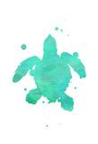 Turtle Splat Poster van Jace Grey