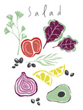 Salad Prints by Laure Girardin Vissian