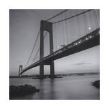 Verrazano Bridge, New York City at Night Photographic Print by Henri Silberman