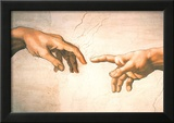 Michelangelo Creation of Adam Detail Sistine Chapel Art Print Poster Prints