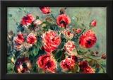 Pierre Auguste Renoir Still Life Roses of Vargemont Art Print Poster Print