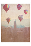 Vintage Hotair Balloons Prints by Ashley Davis