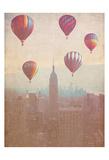 Vintage Hotair Balloons Prints by Ashley Davis
