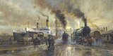 Hull Docks Giclee Print by Alan Fearnley