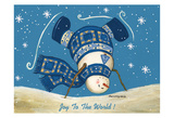 Let It Snow Print by Laurie Korsgaden