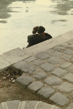 Lovers on the Banks of the River Seine Giclee Print by Peter Cornelius