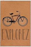 EXPLOREZ (French -  Explore) Afiche