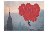 Empire Balloon Girl Posters by Ashley Davis