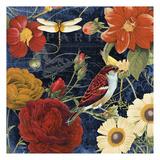 Vintage Floral 3 Print by Carole Stevens