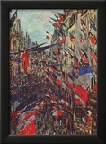 Claude Monet (Paris, Rue Saint-Denis, Celebration of National Day) Art Poster Print Photo
