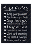 Life Rules Art by Lauren Gibbons