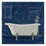 Bath Blues 1 Posters by Diane Stimson