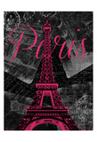 Script Paris Posters by Jace Grey