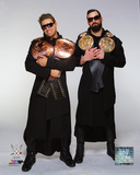 The Miz & Damien Mizdow with Championship Belts 2014 Posed Photo