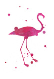 Flamingo 2 Splat Posters by Jace Grey