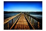 Walking Pier Prints by Scott Cushing