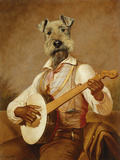 The Troubadour Giclée-tryk af Thierry Poncelet