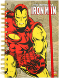 Iron Man Retro Spiral Journal Journal