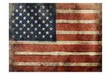 Usa Vintage Flag Poster von Jace Grey