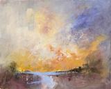 Sky Ablaze Giclee Print by Anne Farrall Doyle