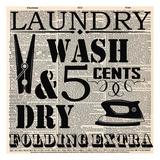 Dictonary Laundry Posters van Taylor Greene
