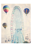 Ferris Wheel Balloons Affiche par Ashley Davis