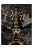 Script Paris Gold Print by Jace Grey