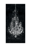 Paris Chandelier on Black 2 Premium Giclee Print by Morgan Yamada
