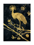 Midnight Crowned Crane Premium Giclee Print by Filippo Ioco