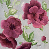 Gray & Plum Florals I Prints by Patricia Quintero-Pinto