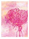 Painted Peony Plakat af Paula Mills