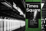 Times Square Subway Green Posters by Susan Bryant