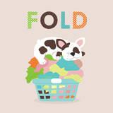 Laundry Fold Schilderijen van Tiffany Everett