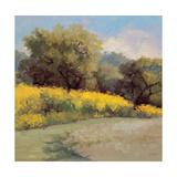 Plein Air Lavender and Yellow Premium Giclee Print by Jill Schultz McGannon