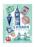 My London Trip Premium Giclee Print by Bella Dos Santos