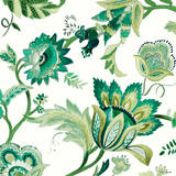 Green Capri Floral I Print by Lanie Loreth
